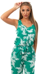 Only Cadmium Green Printed Sleeveless Top