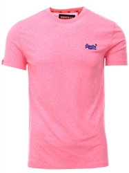 Superdry Fluro Pink Orange Label Fluro Grit T-Shirt