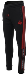 Kings Will Dream Black/Red Manse Poly Jog Pant