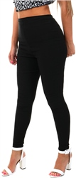Parisian Black High Waist Skinny Trousers