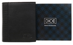 Dice Black Leather Wallet In A Box