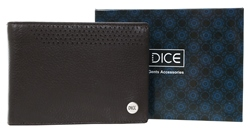 Dice Brown Leather Wallet In A Box