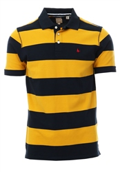 Jack Wills Yellow Melcombe Chester Stripe Polo