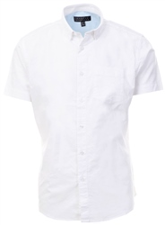 Broken Standard White Damian Short Sleeve Shirt