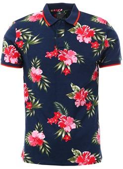 182ef632a Broken Standard Navy Joss Floral Polo Shirt