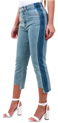 Momokrom Denim Side Panel Mom Jeans