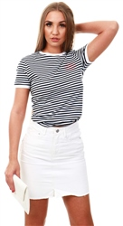 Jack Wills White / Navy Stripe Trinkey Ringer T-Shirt