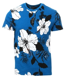 Broken Standard Blue Floral Short Sleeve T-Shirt