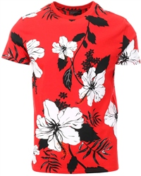 Broken Standard Red Floral Short Sleeve T-Shirt