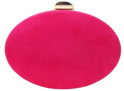 Koko Fuschia Pink Round Clutch Bag