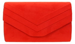 Koko Scarlett Textured Clutch Bag