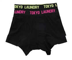 Tokyo Laundry Green Glow 2 Pack Boxers