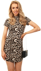 Ax Paris Animal Print Bodycon Mini Dress