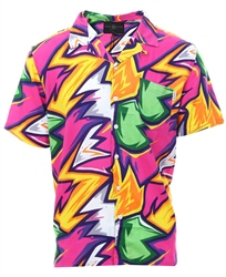 Soulstar Multi Electric Zig Zag Print Shirt