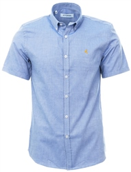 Ottomoda Blue Button Down Short Sleeve Shirt