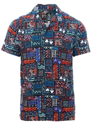 Broken Standard Black Aztech Print Short Sleeve Shirt