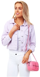Momokrom Lilac Cropped Demin Jacket