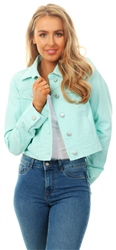 Urban Bliss Spearmint Green Denim Jacket