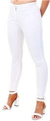 Parisian White High Waisted Jeggings