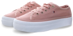 Hilfiger Denim Dusty Rose Signature Flatform Trainers