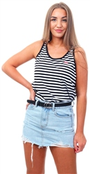 Levi's Mineral Black + White Bobbi Tank Top