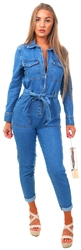 Momokrom Mid Blue Denim Boilersuit
