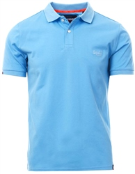 Superdry Wave Blue Classic Micro Pique Polo Shirt