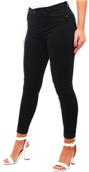 Black Denim Onlrain Reg Skinny Fit Jeans by Only