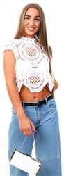 Cutie London White Lace Crochet Top