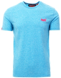 Superdry Fluro Blue Grit Orange Label Fluro Grit T-Shirt