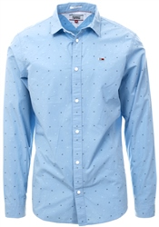 Hilfiger Denim Light Blue Dobby Slim Fit Shirt