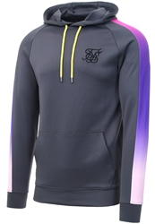 Siksilk Urban Grey & Neon Poly Overhead Fade Panel Hoodie
