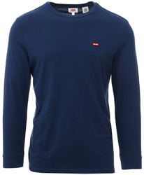 Levi's Patch Dress Blues Long Sleeve Original Logo Tee