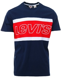 Levi's Dress Blues & White /Multi Colour Colorblock Tee
