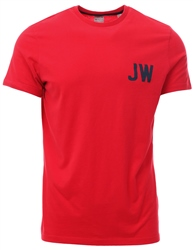 Jack Wills Red Bedwyn T-Shirt