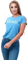 Jack Wills Pale Blue Forstal Boyfriend T- Shirt
