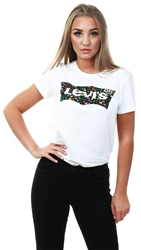 Levi's White Floral Fill The Perfect Tee