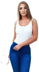 Jdy Cloud Dancer / White Basic Tank Top