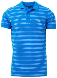 Kangol Lblue Bart Stripe Polo Shirt