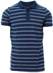 Kangol Navy Bart Stripe Polo Shirt