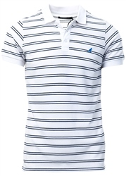 Kangol White Bart Stripe Polo Shirt
