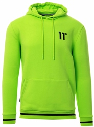 11degrees Neon Lime Core Tipped Pull Over Hoodie