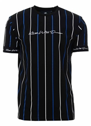 Kings Will Dream Black/Cobalt Lifton Stripe T-Shirt