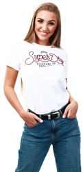 Superdry White Royalty Script Rope Applique T-Shirt