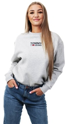 Hilfiger Denim Light Grey Heather Essential Crew Neck Sweatshirt