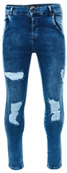 Siksilk Mid Wash Distressed Skinny Denims