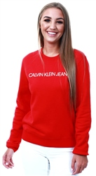 Calvin Klein Barbados Cherry Crew Logo Sweater