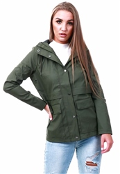 Only Green / Kalamata Solid Rain Jacket