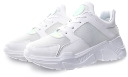 Public Desire White Holographic Chunky Trainer