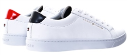Tommy Jeans White Metallic Back Lace-Up Trainers